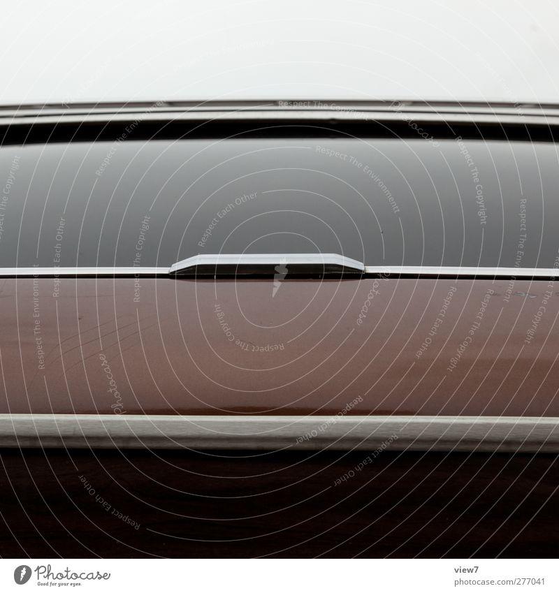 american way of drive Verkehr Fahrzeug PKW Limousine Glas Metall Linie Streifen ästhetisch authentisch einfach frisch modern oben Originalität positiv braun