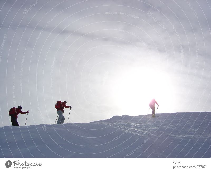 Skitour Ferien & Urlaub & Reisen Extremsport Skifahren Berge u. Gebirge Schnee Sonne mehrere