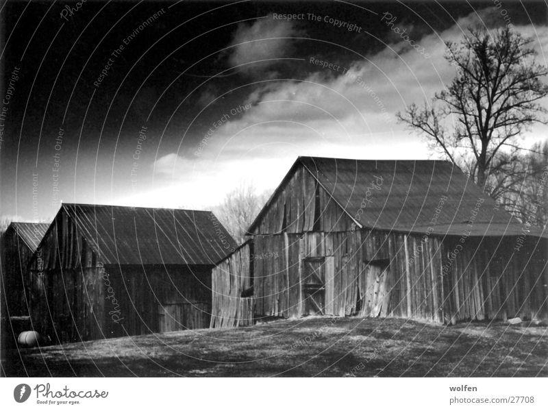 Old Barn Wolken Architektur Amerika Scheune Stimmungsbild Holzhütte