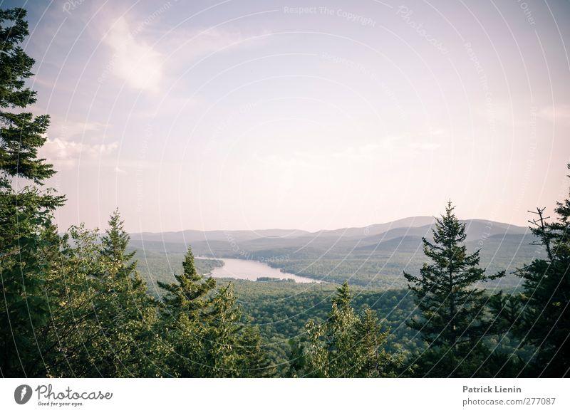 I love Vermont Himmel Natur Ferien & Urlaub & Reisen Sommer Baum Pflanze Sonne Wald Landschaft Ferne Umwelt Berge u. Gebirge Freiheit See Luft Wetter