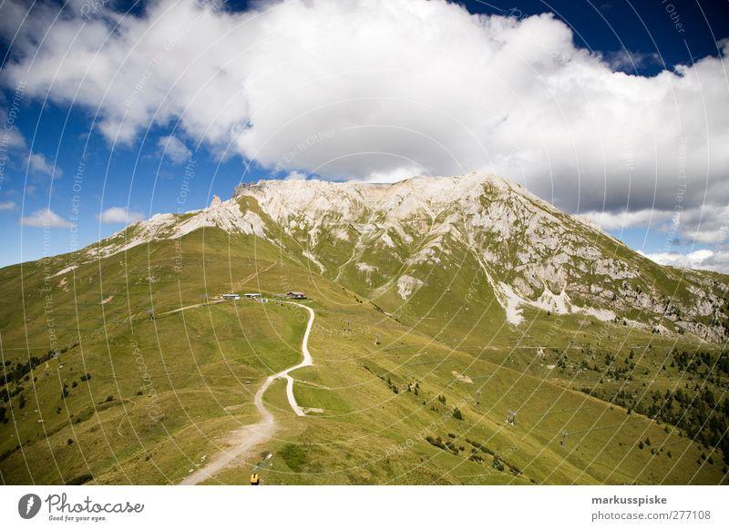 Latemar Südtirol Ferien & Urlaub & Reisen Sommer Erholung Landschaft Ferne Wiese Berge u. Gebirge Gras Wege & Pfade Freiheit Felsen wandern Tourismus Ausflug