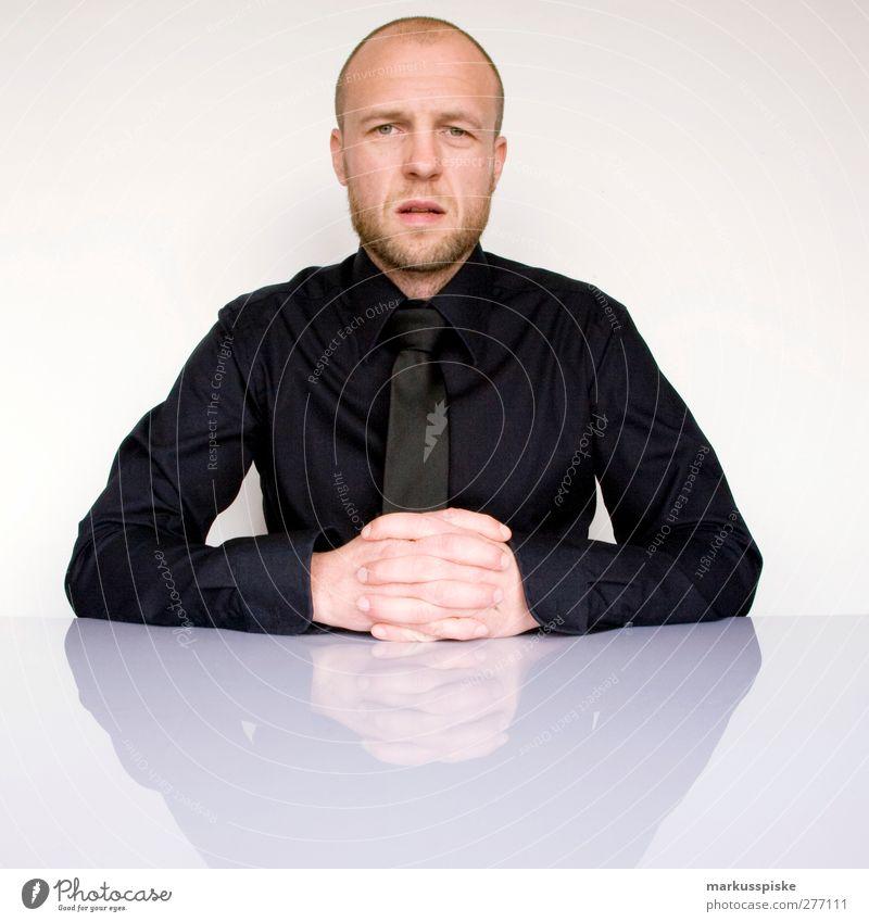 ohne titel Mensch Mann Jugendliche schwarz Erwachsene Kopf Stil Mode Büro Business Junger Mann blond Mund maskulin Erfolg Industrie