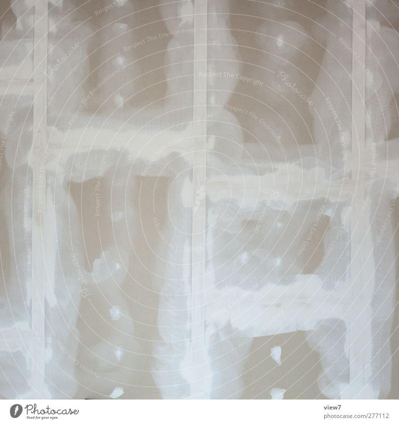 ganz glatt Hausbau Renovieren Umzug (Wohnungswechsel) Innenarchitektur Baustelle Handwerk Mauer Wand Linie Streifen authentisch einfach modern Klischee
