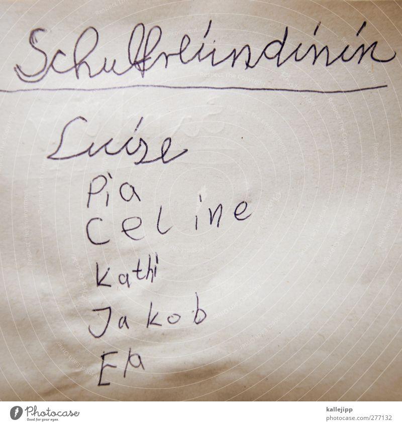 friends Mensch Kind Freude Glück Schule Freundschaft Kindheit Schriftzeichen lernen Papier Kindergruppe Schulgebäude Bildung 8-13 Jahre Schüler Kindererziehung