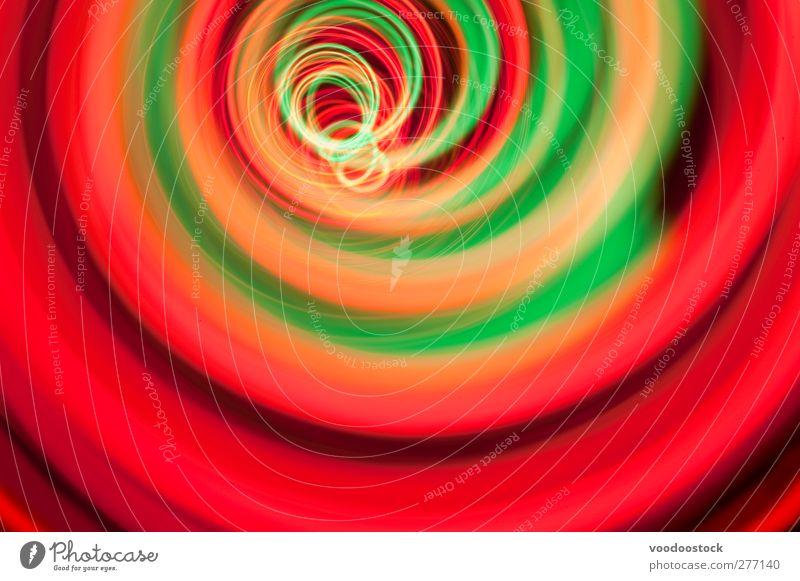 Rot-grüner Spiraltunnel clubbing fantastisch Unendlichkeit hell rot Macht Tatkraft Farbe Geschwindigkeit Surrealismus Zukunft Spirale Wirbel Kurve Hintergrund