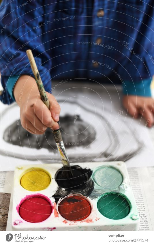Schwarzmaler | Kind malt schwarz Stil Freude Gesundheit Freizeit & Hobby Spielen Basteln Handarbeit Kindererziehung Bildung Kindergarten Schule lernen Schulkind