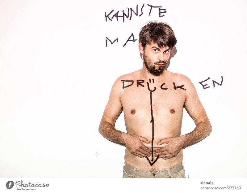 kannste ma drücken Mensch Erotik Stil Spielen Lifestyle maskulin Körper fantastisch Pfeil Akt unten trashig frech Bauch Schalter Lust