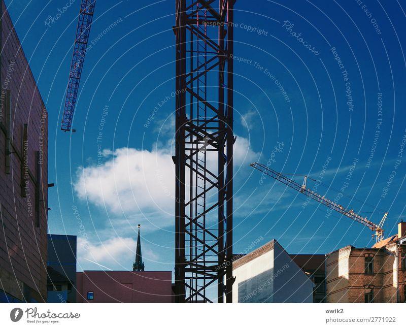 Arm, aber fleißig Himmel Wolken Halle (Saale) Sachsen-Anhalt Deutschland Stadt Stadtzentrum Skyline bevölkert Haus Kirche Bauwerk Gebäude Architektur