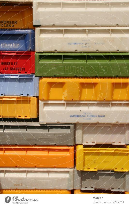 Fisch Tetris grün rot grau Mauer Kunst orange frisch ästhetisch Industrie Hafen Landwirtschaft Verbindung Handel Konstruktion eckig
