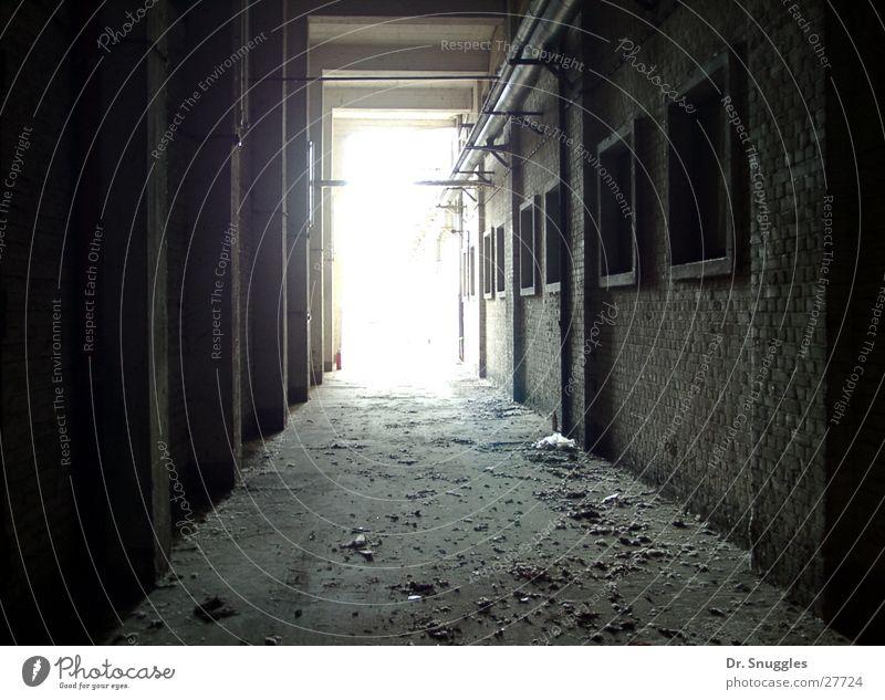 Komm ins Licht! Fabrik Industriegelände Gebäude dreckig Staub Wörth am Rhein Rheinland-Pfalz Architektur Mauer alt Sonne Maximiliansau Industriefotografie Gang