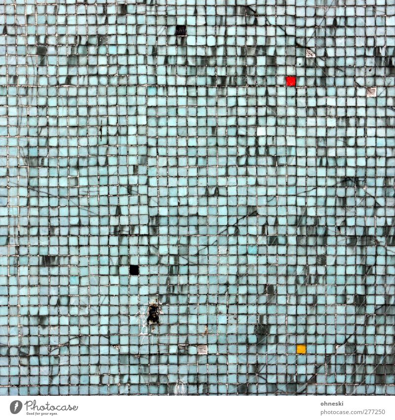 Schiffe versenken Wand Architektur Mauer Arbeit & Erwerbstätigkeit Fassade kaputt Beruf Fliesen u. Kacheln trashig Handwerker Mosaik