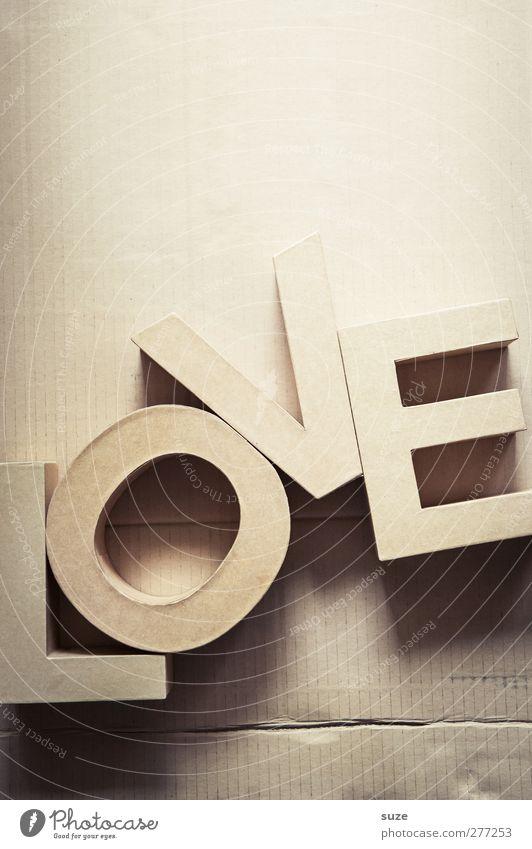 Liebes Wort Stil Freizeit & Hobby Design Schriftzeichen Dekoration & Verzierung Lifestyle Papier Buchstaben einfach Kreativität Idee Zeichen Typographie Karton