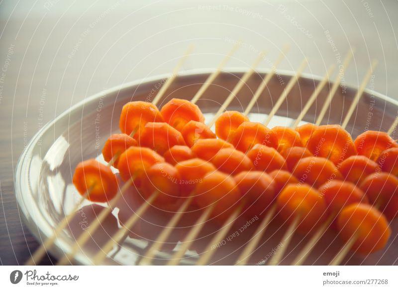 Spaghetti orange außergewöhnlich Lebensmittel Ernährung Gemüse Mittagessen Backwaren Teigwaren Möhre Vegetarische Ernährung