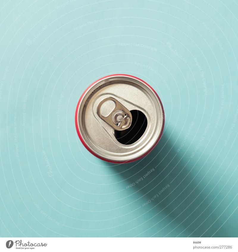 Dose blau Umwelt Metall Design Getränk rund einfach Müll silber Umweltschutz Durst Recycling Verpackung Aluminium Öffnung