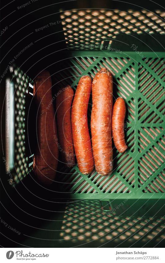 Möhren in der Bio Kiste Gesunde Ernährung Gesundheit Lebensmittel Gesundheitswesen ästhetisch kaufen Gemüse Landwirtschaft Essen zubereiten Bioprodukte