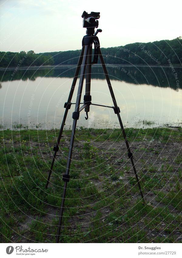 Foto mit Stativ Wasser See Dinge Nationalpark Stativ Baggersee Rheinland-Pfalz Wörth am Rhein