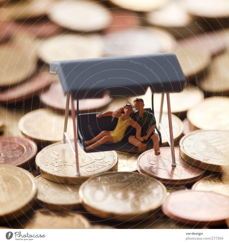 An Reichtum gewöhnt man sich Mensch Jugendliche feminin Leben Junge Frau Paar Junger Mann sitzen Freizeit & Hobby maskulin Erfolg Lifestyle kaufen Geld