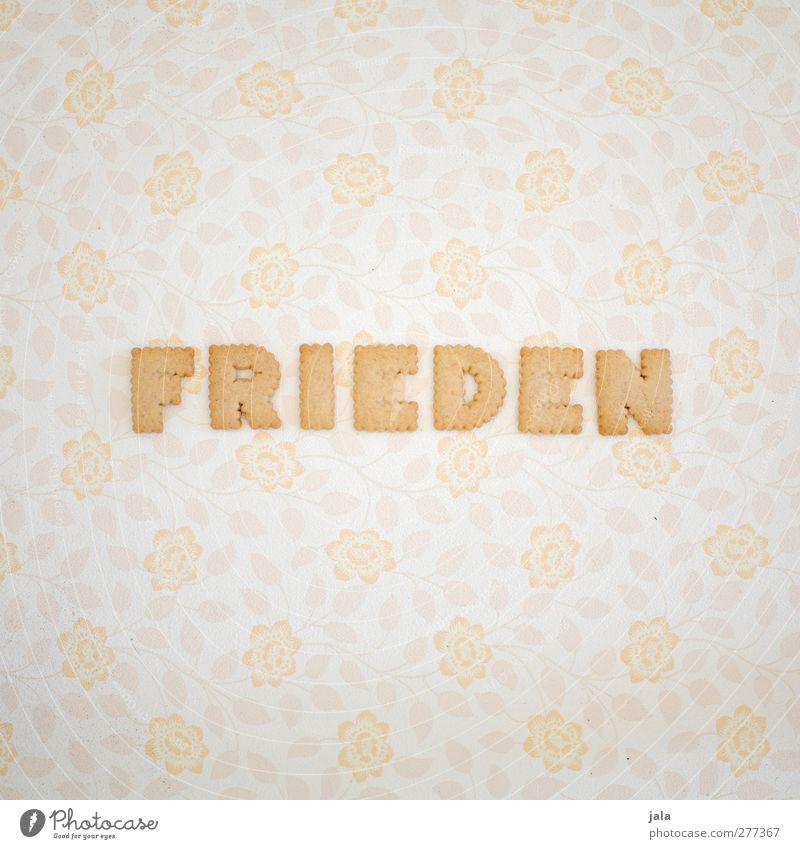 . Freiheit Lebensmittel Ernährung Schriftzeichen Frieden Süßwaren lecker positiv Wort Backwaren Teigwaren