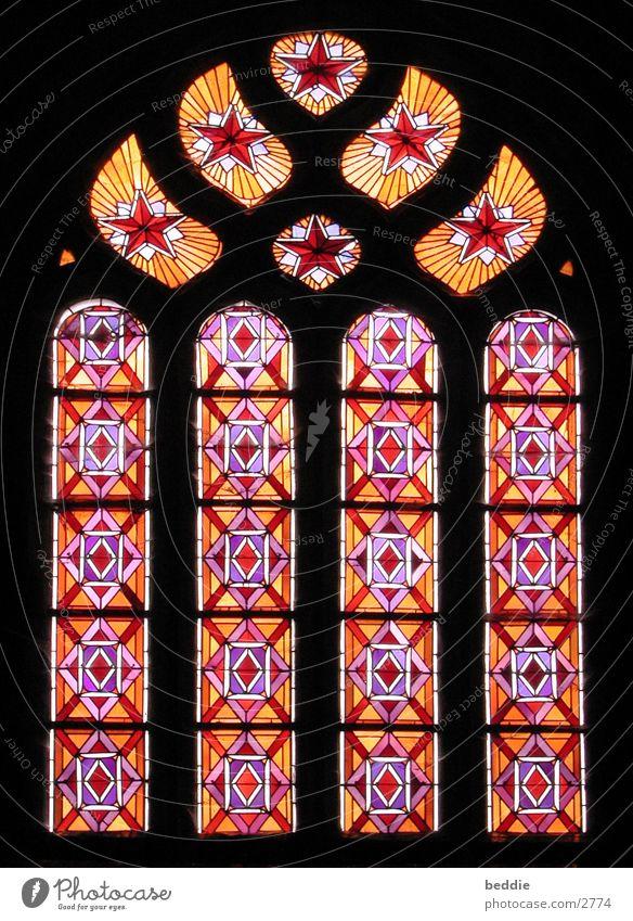 Kirchenfenster alt Farbe Architektur Glas Gotik Bretagne