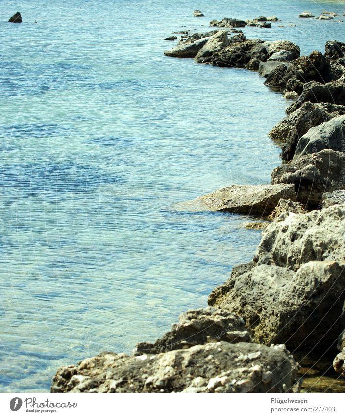 Steinzeit Ferien & Urlaub & Reisen Tourismus Ausflug Abenteuer Ferne Sommerurlaub Sonnenbad Strand Meer Wellen Küste Seeufer Flussufer Bucht Fjord Riff