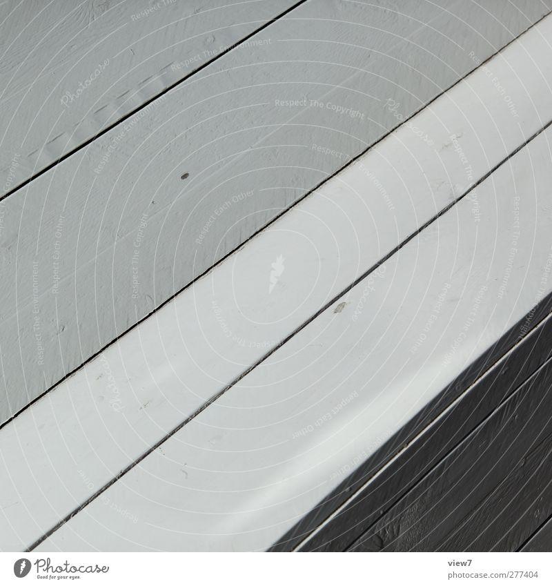 diagonal Holz Linie Streifen ästhetisch authentisch einfach elegant frisch modern neu positiv retro weiß Bank graphisch Schneidebrett Fuge Ecke aufwärts grau