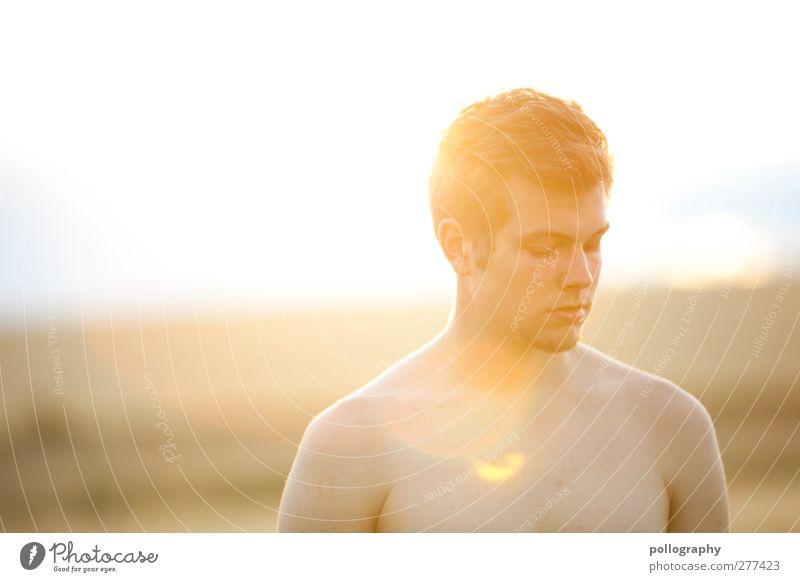 sunnyboy (II) Mensch Junger Mann Jugendliche Erwachsene Leben 1 18-30 Jahre Natur Landschaft Pflanze Wolkenloser Himmel Sonnenaufgang Sonnenuntergang