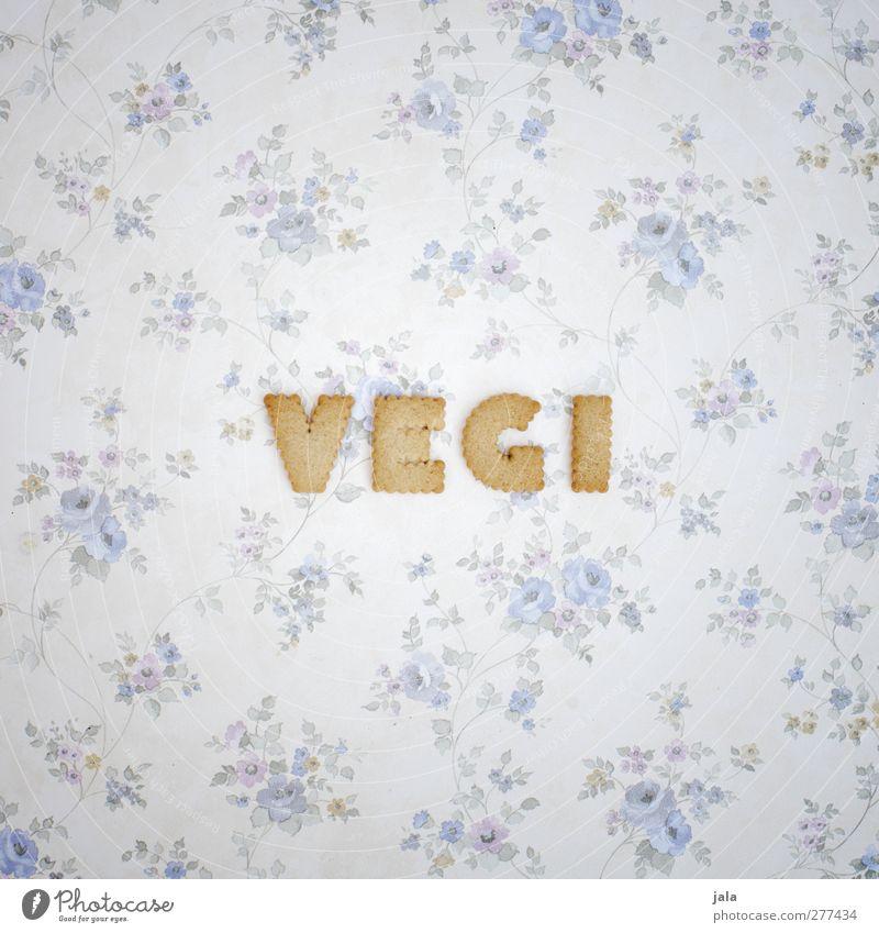 bist du schon oder fleischst du noch? Lebensmittel Teigwaren Backwaren Süßwaren Keks Ernährung Vegetarische Ernährung Schriftzeichen Wort lecker vegi Farbfoto
