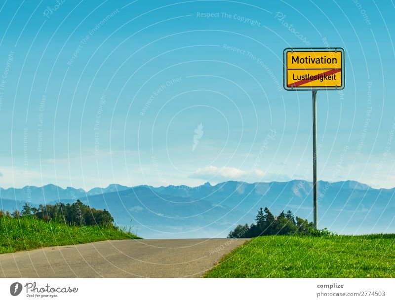 Motivation - Lustlosigkeit Sommer Freude Gesundheit Leben Glück Business Büro wandern Schriftzeichen Erfolg Fitness Zeichen Neugier Erwachsenenbildung