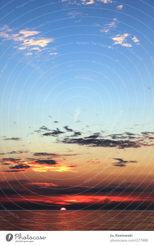 Himmelweit Natur Wasser Ferien & Urlaub & Reisen Sommer Sonne Meer Wolken Landschaft Ferne Freiheit träumen Horizont Freizeit & Hobby Schönes Wetter Idylle