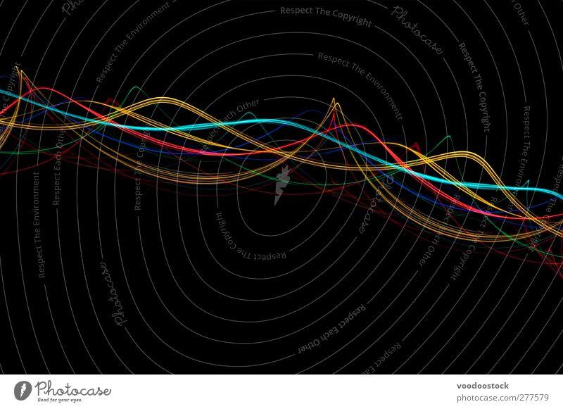 rot Farbe schwarz gelb Leben hell Linie Kreativität türkis Kurve winken zyan Verwirbelung Arabesken Wellenlänge
