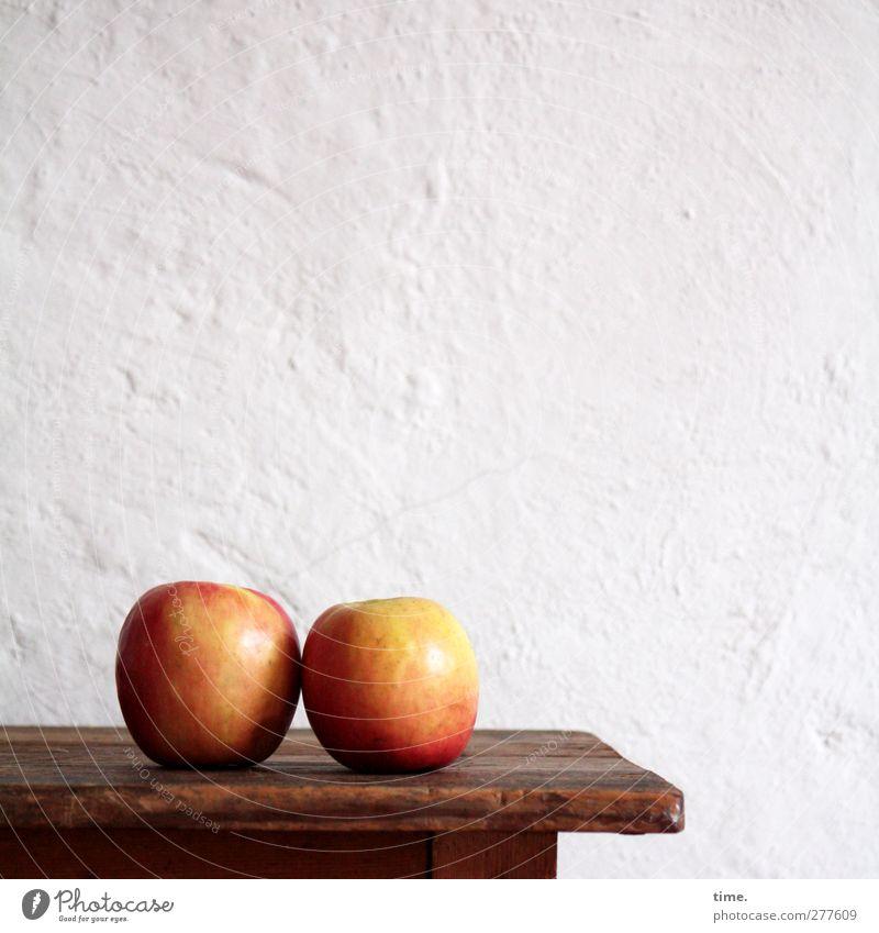 oo weiß rot ruhig Wand Mauer Stil Gesundheit Stimmung Zufriedenheit Frucht Lebensmittel elegant rund Apfel Sehnsucht Verliebtheit