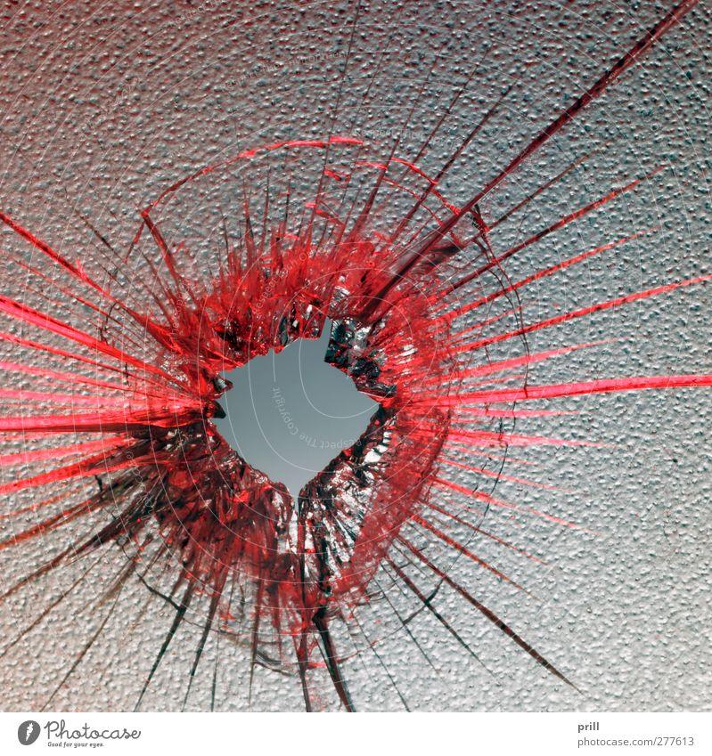 red shot rot springen Hintergrundbild Ordnung Design Idee Mitte Teile u. Stücke Loch gebrochen Zerstörung Rest Durchblick rau zerbrechlich gerissen