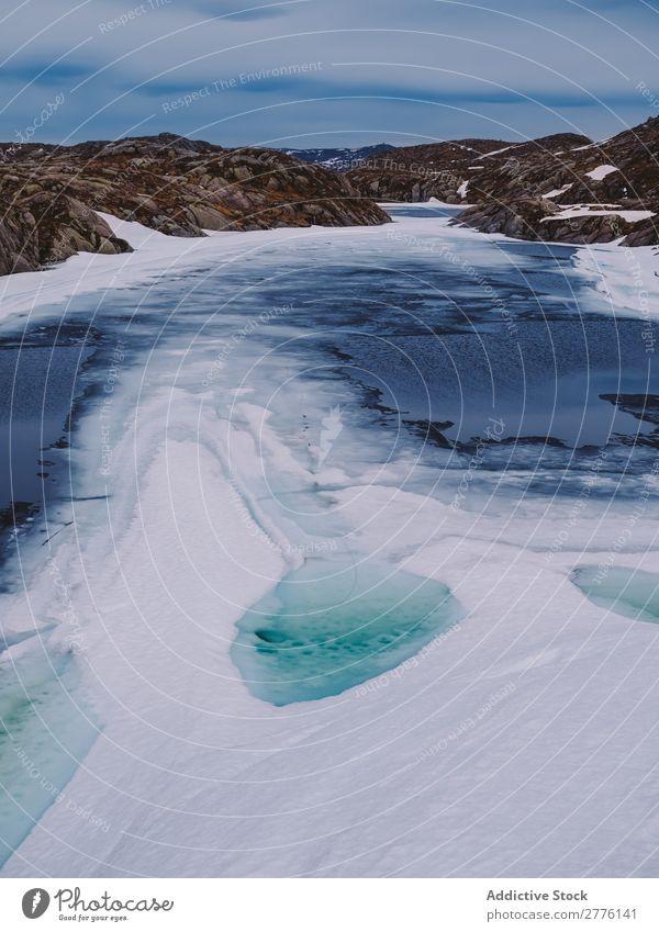 Landschaft der Berge und Gletscher Berge u. Gebirge Eis Riss Arktis durchsichtig Wasser Meer Strukturen & Formen abstrakt eisig kalt Natur Frost Muster Winter