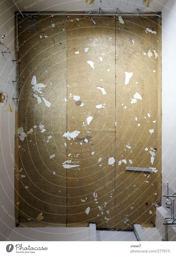 3 Häusliches Leben Wohnung Renovieren Umzug (Wohnungswechsel) einrichten Haus Bauwerk Gebäude Architektur Mauer Wand Linie Streifen alt authentisch dreckig