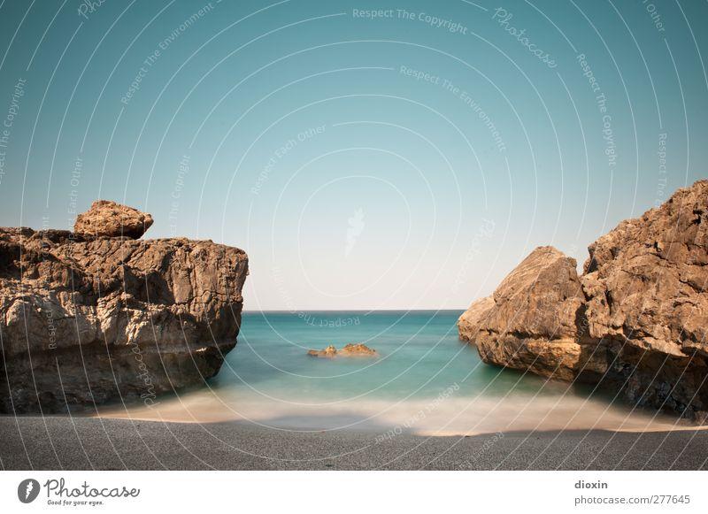 The Beach Ferien & Urlaub & Reisen Tourismus Ferne Sommer Sommerurlaub Sonne Strand Meer Insel Wellen Natur Landschaft Sand Wasser Wolkenloser Himmel Küste