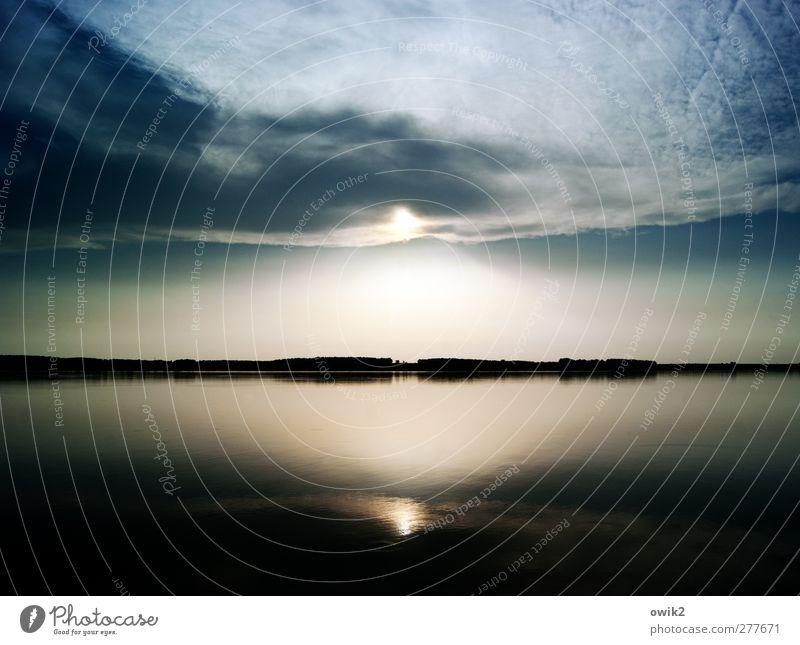 Abendgruß Himmel Natur Landschaft Wolken ruhig Ferne Umwelt Küste außergewöhnlich See Stimmung hell glänzend Zufriedenheit Wetter leuchten