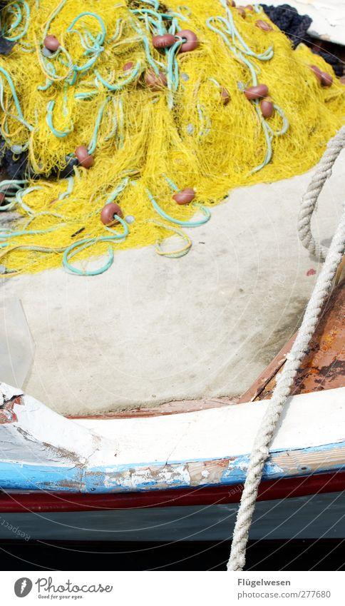 Fischers Fritze Netz Bildausschnitt Fischereiwirtschaft Fischerboot Fischernetz Bordwand