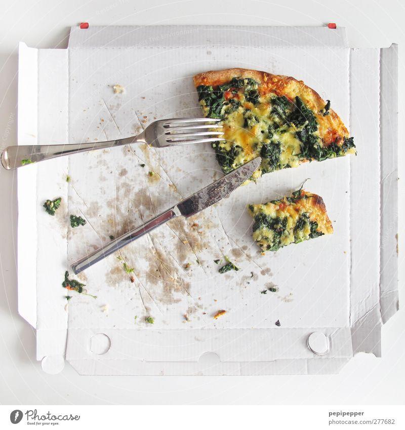 ich habe fertig! Essen Lebensmittel Ernährung Gemüse Kräuter & Gewürze Mittagessen Backwaren Käse Teigwaren Pizza Gabel Löffel Fastfood Fingerfood Slowfood
