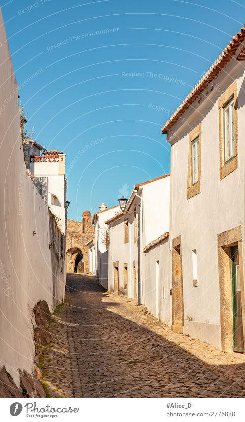 Mittelalterliches Dorf Marvao in Alentejo Portugal Ferien & Urlaub & Reisen Europa Kleinstadt Menschenleer Haus Gebäude Architektur Fenster Tür Sehenswürdigkeit