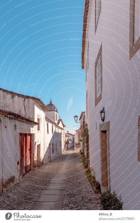 Medieval Village Marvao in Alentejo Portugal Ferien & Urlaub & Reisen Europa Dorf Kleinstadt Stadt Menschenleer Haus Architektur Sehenswürdigkeit alt