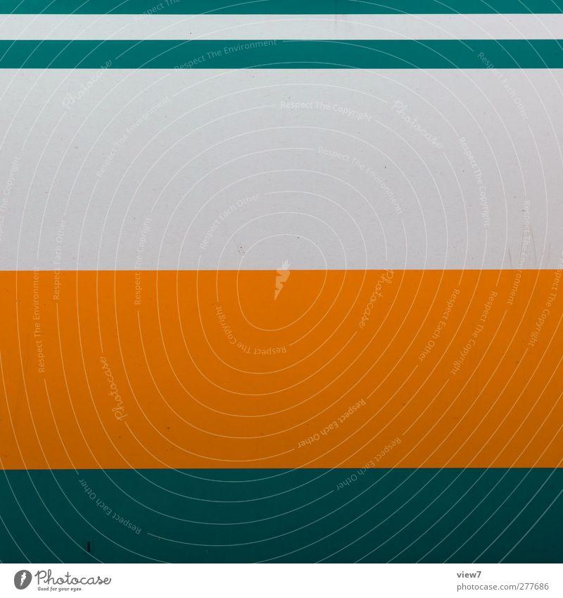 sweet orange grün Farbe Wand Mauer Metall Linie Ordnung elegant Verkehr authentisch modern Geschwindigkeit frisch ästhetisch Eisenbahn Streifen