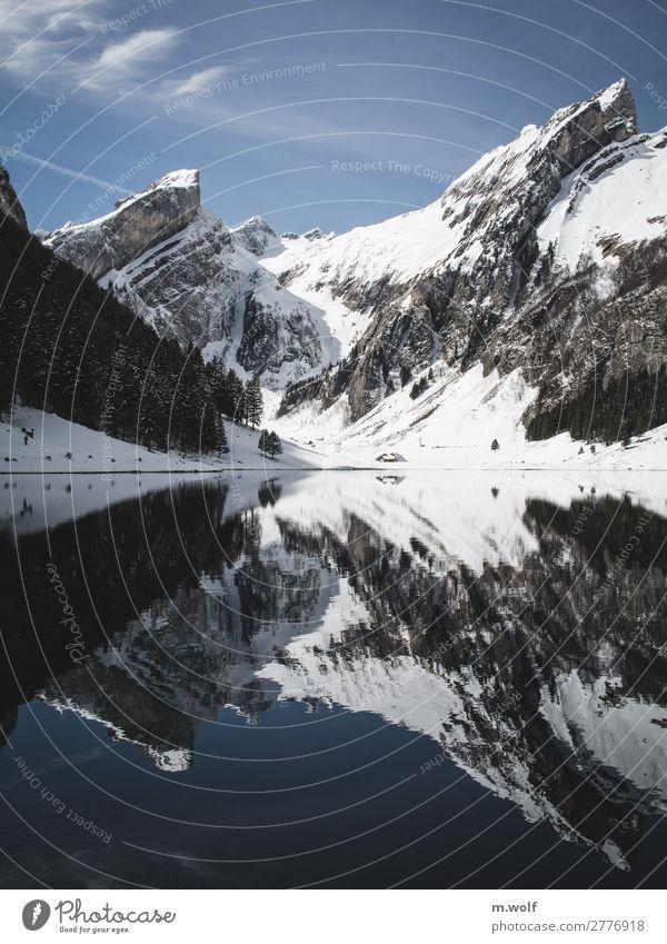 Seealpsee Schweiz Ferien & Urlaub & Reisen Natur Landschaft Erholung ruhig Winter Ferne Berge u. Gebirge Umwelt Schnee Tourismus Freiheit Ausflug