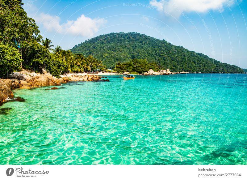 eintauchen | FERNWEH Ferien & Urlaub & Reisen Tourismus Ausflug Abenteuer Ferne Freiheit Natur Himmel Wolken Berge u. Gebirge Wellen Küste Strand Meer Insel