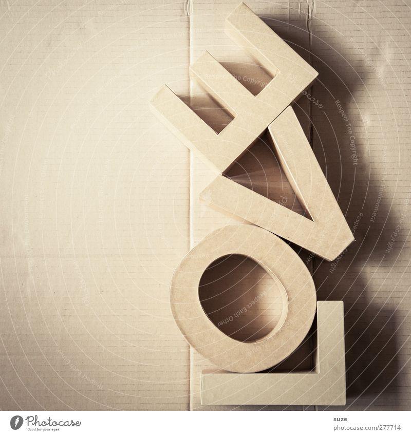 Laahf Liebe Freizeit & Hobby Design Schriftzeichen Dekoration & Verzierung Lifestyle Papier einfach Kreativität Idee Zeichen Typographie Karton Material Wort Inspiration