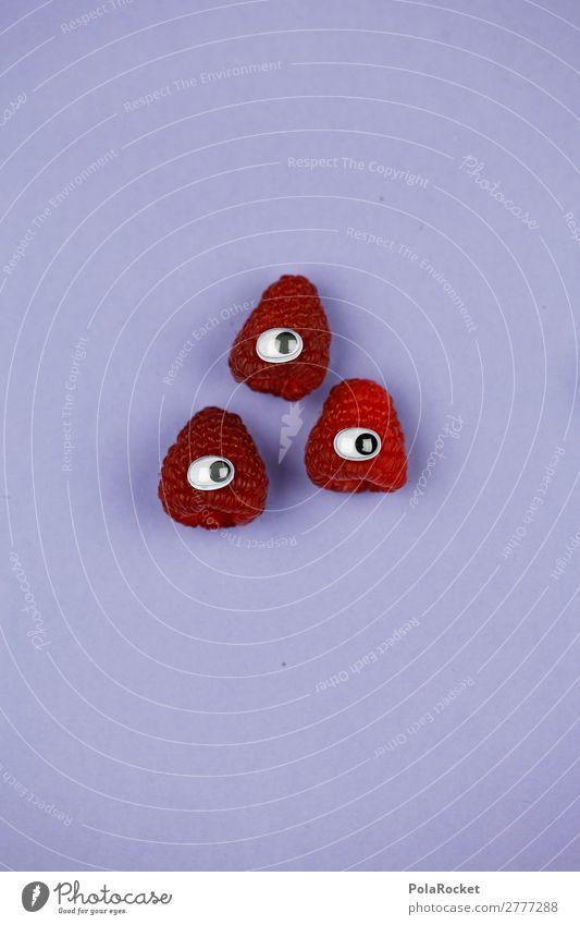 #A# HimbeerDreier Kunst Kunstwerk ästhetisch Himbeeren Himbeereis 3 süß niedlich Auge Symbole & Metaphern Comic Farbfoto mehrfarbig Innenaufnahme Studioaufnahme