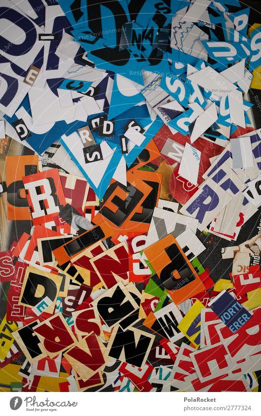 #A# TYPQ Kunst Kunstwerk ästhetisch Buchstaben Buchstabensuppe Buchstabennudeln Typographie Schriftzeichen viele Grafik u. Illustration Grafiker Design