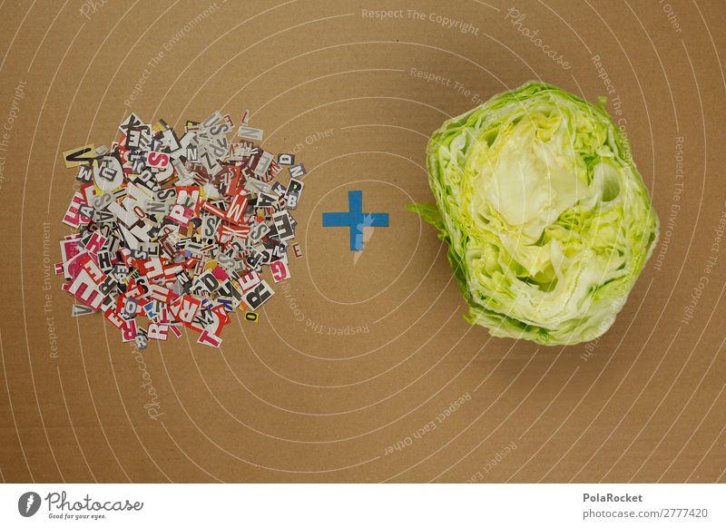 #A# Buchstaben+Salat Kunst Kunstwerk ästhetisch Salatbeilage Salatblatt Buchstabensuppe Buchstabennudeln Buchstabensalat viele Kreativität Wortspiel