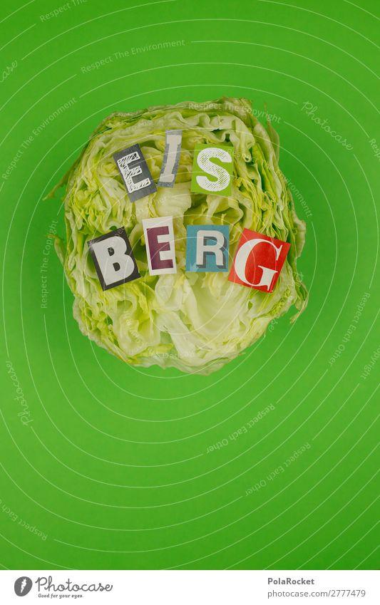 #A# VORAUS! Kunst ästhetisch Eisberg Eisbergsalat Kreativität Typographie Idee Wort Wortspiel Buchstaben Buchstabensuppe graphisch Farbfoto mehrfarbig