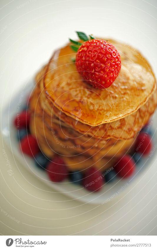 #A# Happa Happa Kunst ästhetisch Pancake Rocks lecker Frühstück ungesund Kalorie Kalorienreich Erdbeeren Dessert Appetit & Hunger Farbfoto Gedeckte Farben
