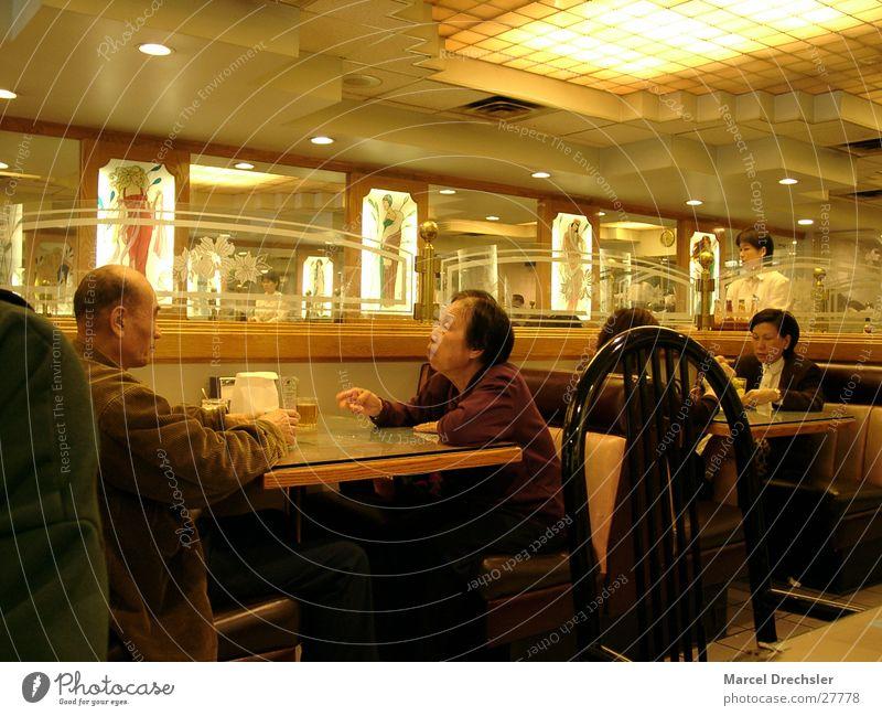 Chinatown Mann Ernährung gelb sprechen Menschengruppe Stimmung Gastronomie Restaurant Konflikt & Streit Japan Weisheit Chinese